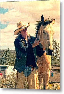 Metal Print featuring the digital art Horse Whisperer by Rhonda Strickland