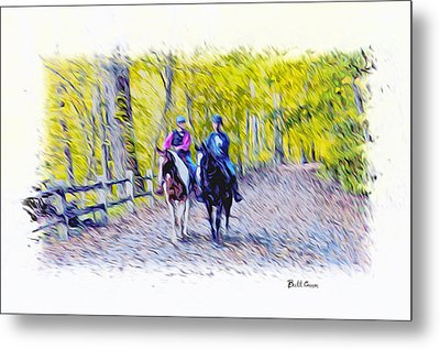 Horseback Riding  Metal Print by Bill Cannon