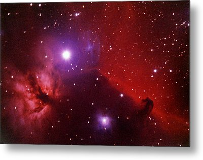 Horsehead Nebula In The Belt Of Orion Metal Print by A. V. Ley