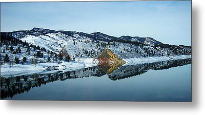 Horsetooth Reflections Metal Print by Julie Magers Soulen