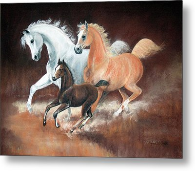 Horsin' Around Metal Print by Rose McIlrath
