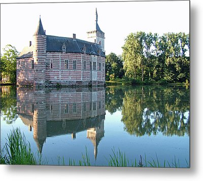 Metal Print featuring the photograph Horst Castle Belgium by Joseph Hendrix