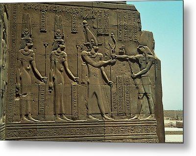 Horus Donant El BastÓ Del Poder Al FaraÓ Metal Print