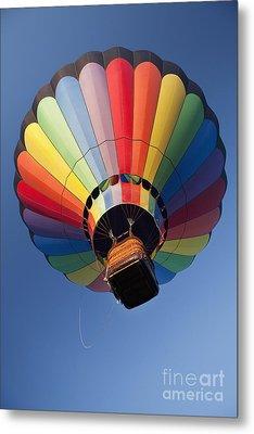 Hot Air Balloon In Flight Metal Print by Bryan Mullennix
