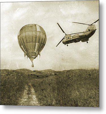 Hot Air Cool Air Metal Print by Betsy Knapp