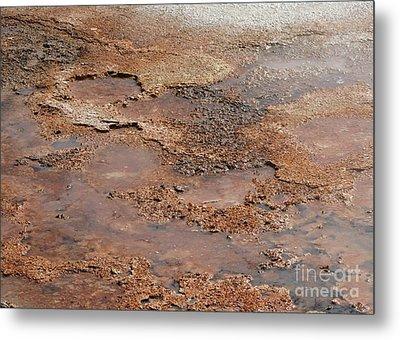 Hot Springs Abstract Metal Print by Sabrina L Ryan