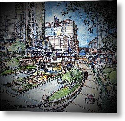 Hotel Plaza Metal Print by Andrew Drozdowicz
