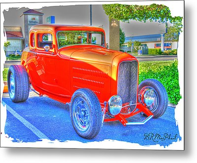 Metal Print featuring the photograph Hotred by Barbara MacPhail