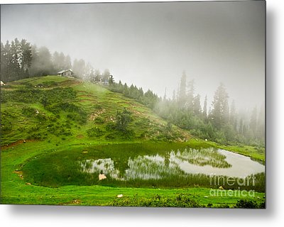House And Fog Metal Print by Syed Aqueel
