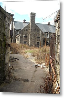 Metal Print featuring the photograph House Beyond The Gate by Christophe Ennis