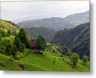 House In The Apuseni Mountains Metal Print by Emanuel Tanjala