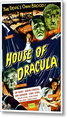 House Of Dracula, Top From Left Glenn Metal Print by Everett