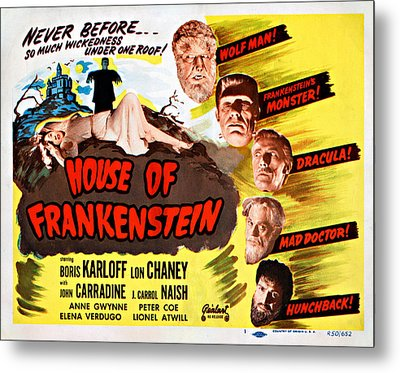 House Of Frankenstein, 1950 Re-issue Metal Print by Everett