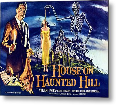 House On Haunted Hill, Left Vincent Metal Print by Everett