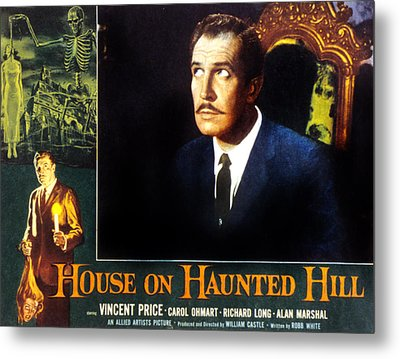 House On Haunted Hill, Vincent Price Metal Print by Everett