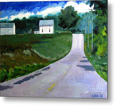 House On The Hill Metal Print by Charlie Spear