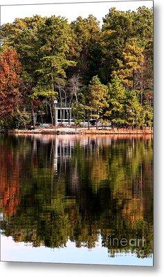 House On The Lake Metal Print by John Rizzuto