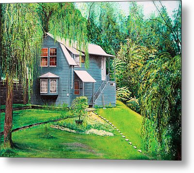 House Woodstock Ny Metal Print by Stuart B Yaeger