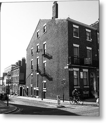 #houses #house #liverpool #streets #uk Metal Print by Abdelrahman Alawwad