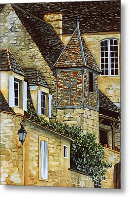 Houses In Sarlat Metal Print
