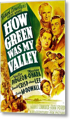 How Green Was My Valley, Donald Crisp Metal Print by Everett