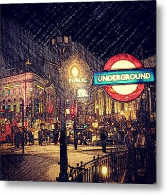 How London Looks Like At Night? May Metal Print by Abdelrahman Alawwad