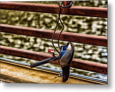 Metal Print featuring the photograph How Not To Lock Your Bike by Tom Gort