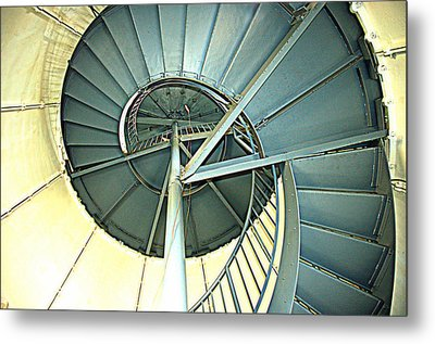 How To Clmb A Lighthouse Metal Print by Bruce Carpenter