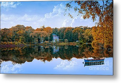 Hoxie Pond Metal Print by Gina Cormier
