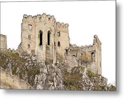 Metal Print featuring the photograph Hrad Beckov Castle by Les Palenik