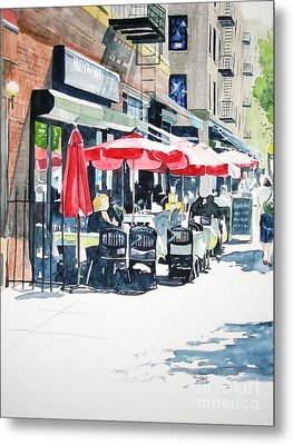 Metal Print featuring the painting Hudson Diner by Tom Riggs
