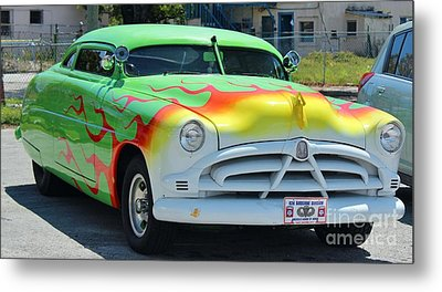 Hudson Low Rider Roadster Metal Print by Rene Triay Photography
