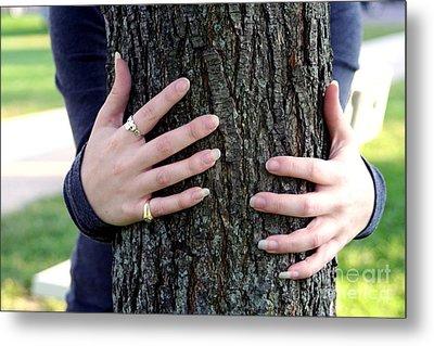 Hug A Tree Metal Print by Susan Stevenson
