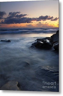 Hug Point Sunset Metal Print by Mike  Dawson