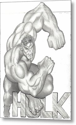 Hulk Metal Print by Rick Hill