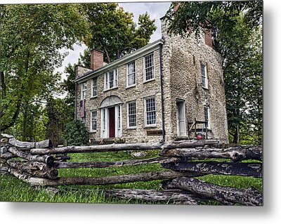 Hull House 1810 Metal Print by Peter Chilelli