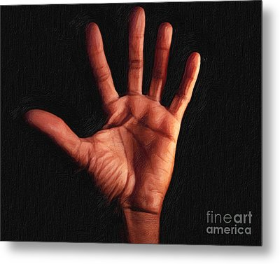 Humane Touch Metal Print by AHcreatrix