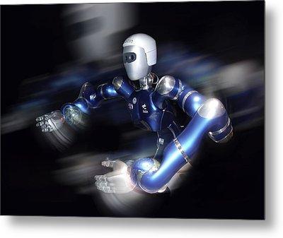 Humanoid Robot, Artwork Metal Print by Detlev Van Ravenswaay