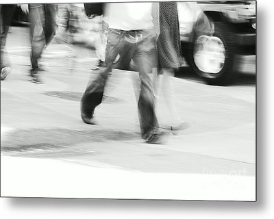 Hurry Up Metal Print by Aimelle
