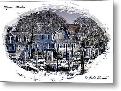 Metal Print featuring the photograph Hyannis Harbor Greetings by Jack Torcello