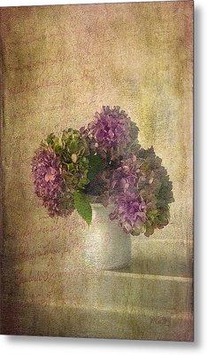 Hydrangea Blossoms Metal Print by Michael Petrizzo