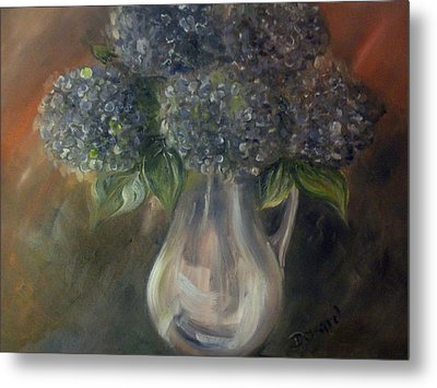 Hydrangeas Metal Print by Raymond Doward