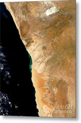 Hydrogen Sulfide Eruption Off Namibia Metal Print by Nasa