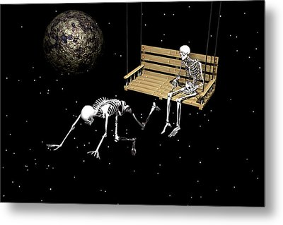 Metal Print featuring the digital art I Am Leaving You by Claude McCoy