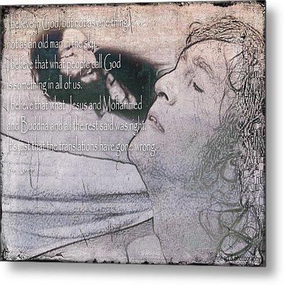 I Believe _ John Lennon Metal Print by Yvon van der Wijk