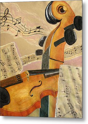 I Can Hear Music Metal Print