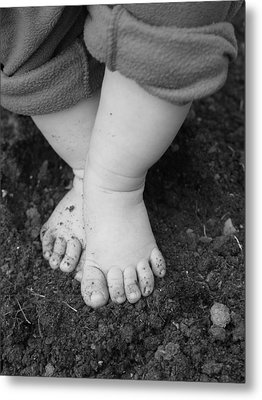 Metal Print featuring the photograph I Feel The Earth...move...under My Feet by Elizabeth  Sullivan