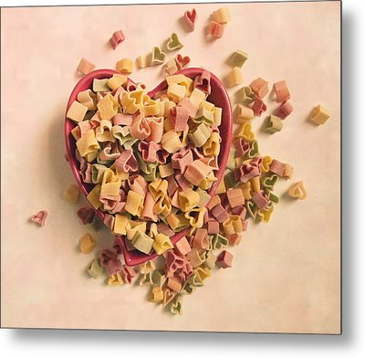 Metal Print featuring the photograph I Heart Pasta by Robin Dickinson