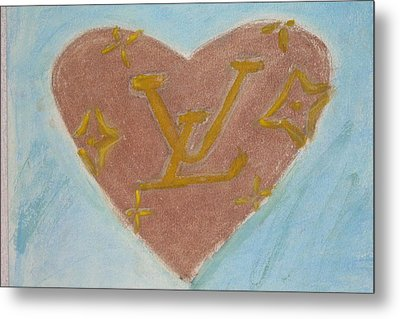 I Left My Hart At Louis Vuitton Metal Print