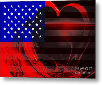 I Love America Metal Print by Wingsdomain Art and Photography